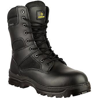 مكافحة رجالي أمبليرس جلدية الفسفور الأبيض سلامة ماء أحذية سوداء