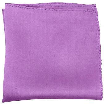 Knightsbridge Neckwear Fine Silk Pocket Square - Deep Lilac
