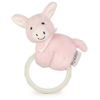Kaloo Regliss Donkey Teether & Rattle Pink