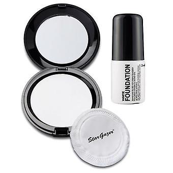 Stargazer meikkivoide ja painetaan jauhe Combo (valkoinen)
