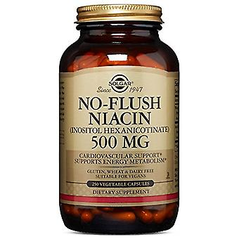 Solgar No-Flush Niacin 500 mg geliefert (Vitamin B3, Inositol Hexanicotinate) 250 Ct