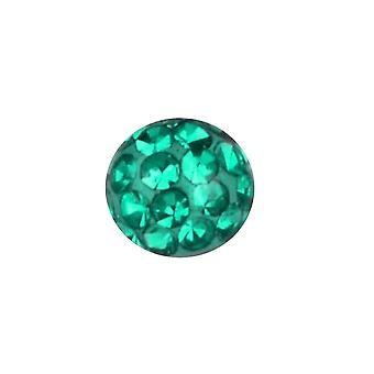 Piercing vervanging bal, lichaam sieraden, Multi Crystal stenen smaragd groen | 4, 5 en 6 mm