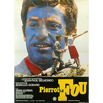 Pierrot le Fou постер фильма (11 x 17)