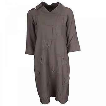 Crea Concept Waffle Texture Fabric Slip On Midi Dress
