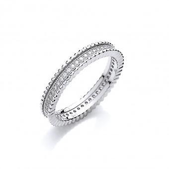Cavendish Français perles argent beauté et anneau zircone cubique