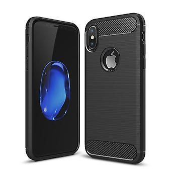 Black Designed Protective Soft Case - iPhone X / XS!
