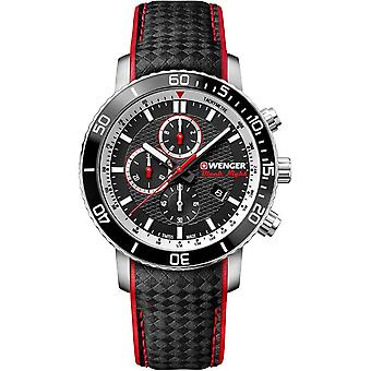 Wenger mens watch black night Roadster chronograph 01.1843.105