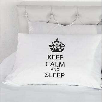 Păstrați calm și Sleep noutatea perna de caz