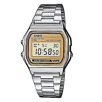 Casio digitale horloge met roestvrij stalen band A158WEA-9EF