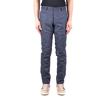 Incotex Ezbc093026 Men's Blue Wool Pants
