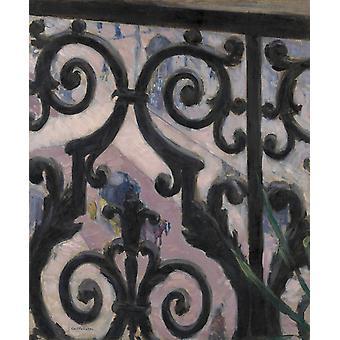 Het uitzicht bekeken vanaf veranda, Gustave Caillebotte, 65x54cm
