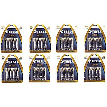 Tesla Gold AA Batterie 32-pack, LR6 Alkaline