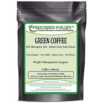 Green Coffee - 50% Chlorogenic Acid - Natural Robusta Bean Fruit Extract Powder (Coffea robusta)