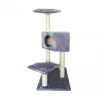 Luckypet Tree Cats Scratches Grey Scratches Sisal Plush Relax Jeu 97x60x40