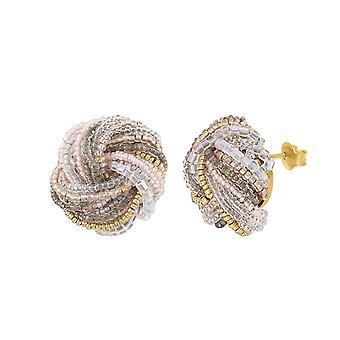 Eeuwige collectie Chantilly Murano Glass Torsade doorboorde oorbellen