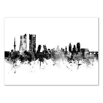 Art-Poster-Madrid Spanje skyline-Michael Tompsett 50 x 70 cm