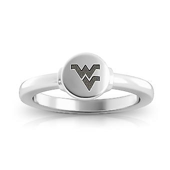 West Virginia University Engraved Sterling Silver Signet Ring