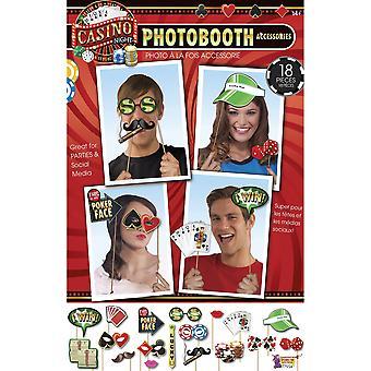 Bristol nyhet Casino Photo Booth Kit (18 stycken)