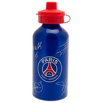 Paris Saint Germain FC Signed 500ml Aluminium Water Bottle