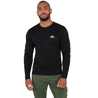 Alpha Industries Men's Long Sleeve Shirt Basic Small Logo