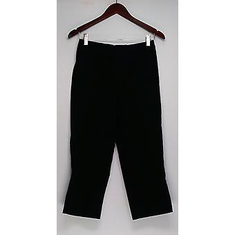 Isaac Mizrahi Live! Pantalones 8 24/7 Stretch Regular Negro A251351