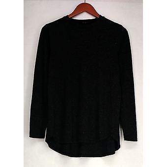 Luxsport T-Shirt High Low Hem Long Sleeve Tee Gray Womens 511-734