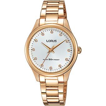 Lorus woman Quartz Analog Women Watch with RRS84VX9 Gold Plated Stainless Steel Bracelet