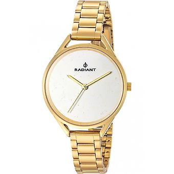 Radiant new starlight Quartz Analog Woman Watch with RA432206 Gold Plated Stainless Steel Bracelet