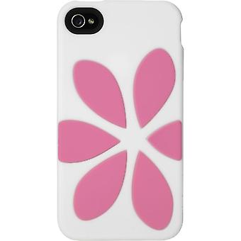 Agent18 FlowerVest TPU Case for iPhone 4/4S - White/Pink