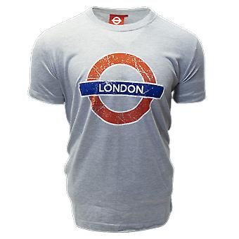Licensed tfl™101lon unisex london undergound™ t shirt grey
