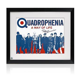 Phil Daniels Podpisał Quadrophenia Plakat: Sposób na życie. Oprawione