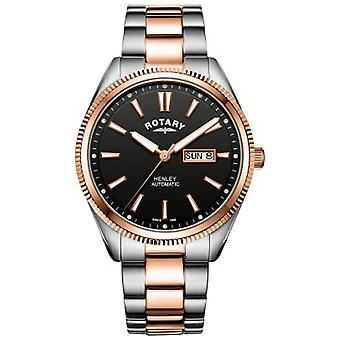 Rotary | Mens Henley | Serrated Bezel |  Stainless Steel Strap | GB05382/04 Watch