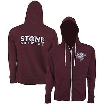 Stone Brewing Text Logo Bourgogne Men-apos;s Hoodie