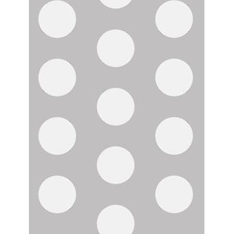 Big Dots Polka Dot Wallpaper White / Grey A617 CAO 1