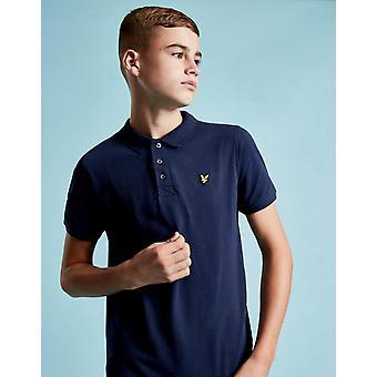 Nouveau Lyle et Scott Boys-apos; Logo Short Sleeve Polo Shirt Blue