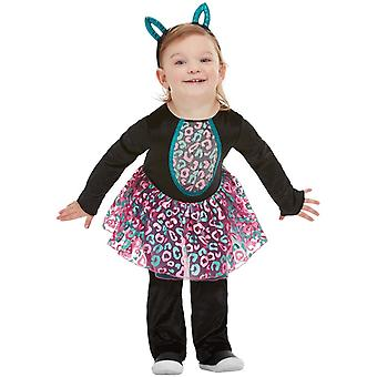 Katze Kostüm Kleinkind Overall mit Tutu und  Katzenohren Haarreif Kinderkostüm