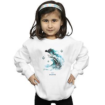 Disney Girls Frozen 2 Elsa With Nokk The Water Spirit Sweatshirt
