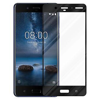 Cadorabo Vollbild Panzer Folie für Nokia 8 2017  - Gehärtetes (Tempered) Display-Schutzglas in 9H Härte mit 3D Touch Kompatibilität