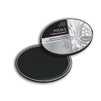 Midas door spectrum Noir metallic pigment Inkpad-zilver
