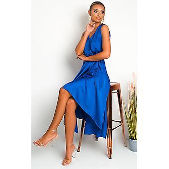 IKRUSH Womens Lynn Frill Hem Midi Dress