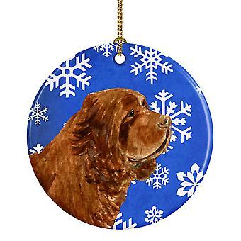 Carolines Treasures SS4648-CO1 Sussex Spaniel Vinter Snefnug Holiday Ceramic
