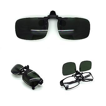 Flexible UV day night clip on flip up glasses TR11