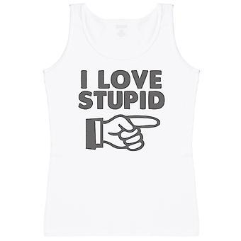I Love Stupid - Womens Tank Top