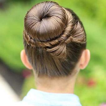 Hawwwy 3-teilige Bun Maker, einfache Snap-and-Roll Bun Haarwerkzeug, braun, Größe keine Größe
