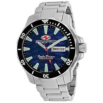 Seapro Men's Scuba Dragon Diver Edición Limitada 1000 Metros Reloj De Marcado Azul - SP8316S