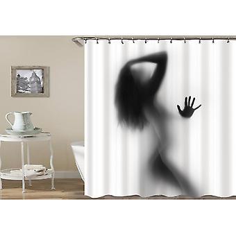 Girl's Shadow Shower Curtain