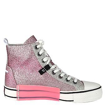 Ash GLOVER Pink & Silver Glitter Trainers