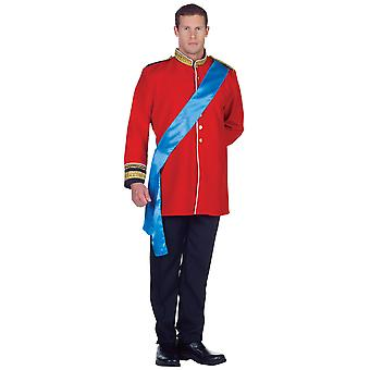 Heir Prince William Royal Wedding Fairytale Story Book Deluxe Men Costume OS