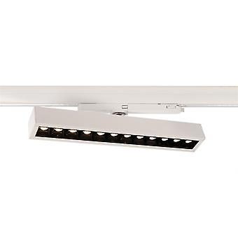 LED 3-fazowy reflektor szyny Ain 24-30W 3000K 34° obrotowy-obrotowy biały
