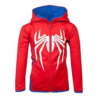 Marvel Comics Spider-man Logo Teq Full Length Zipper Hoodie Kids Unisex 98/104